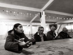 Des personnes du village de Zacapoaxtla parlent de leurs revendications à la délégation intersyndicale du CISO.