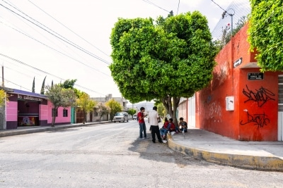 The entrance and Lunch for Tehuacan Garment Factory Workers