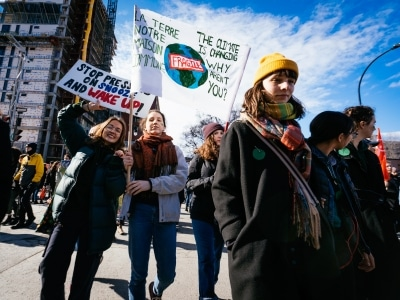 March 15 student demonstration for the fight against climate change