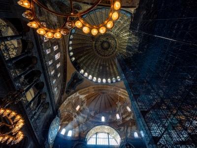 The interior of Hagia Sophia