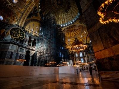 L'intérieur de la basilique Sainte-Sophie