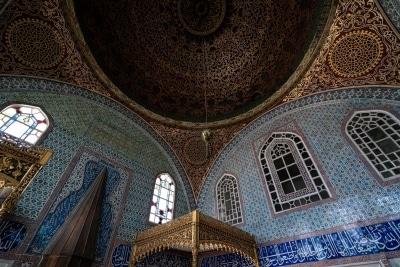 Plafond des chambres du Palais de Topkapi