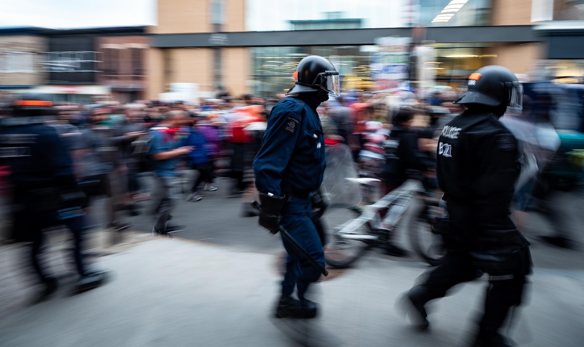 Policiers antiémeutes au G7 de Québec