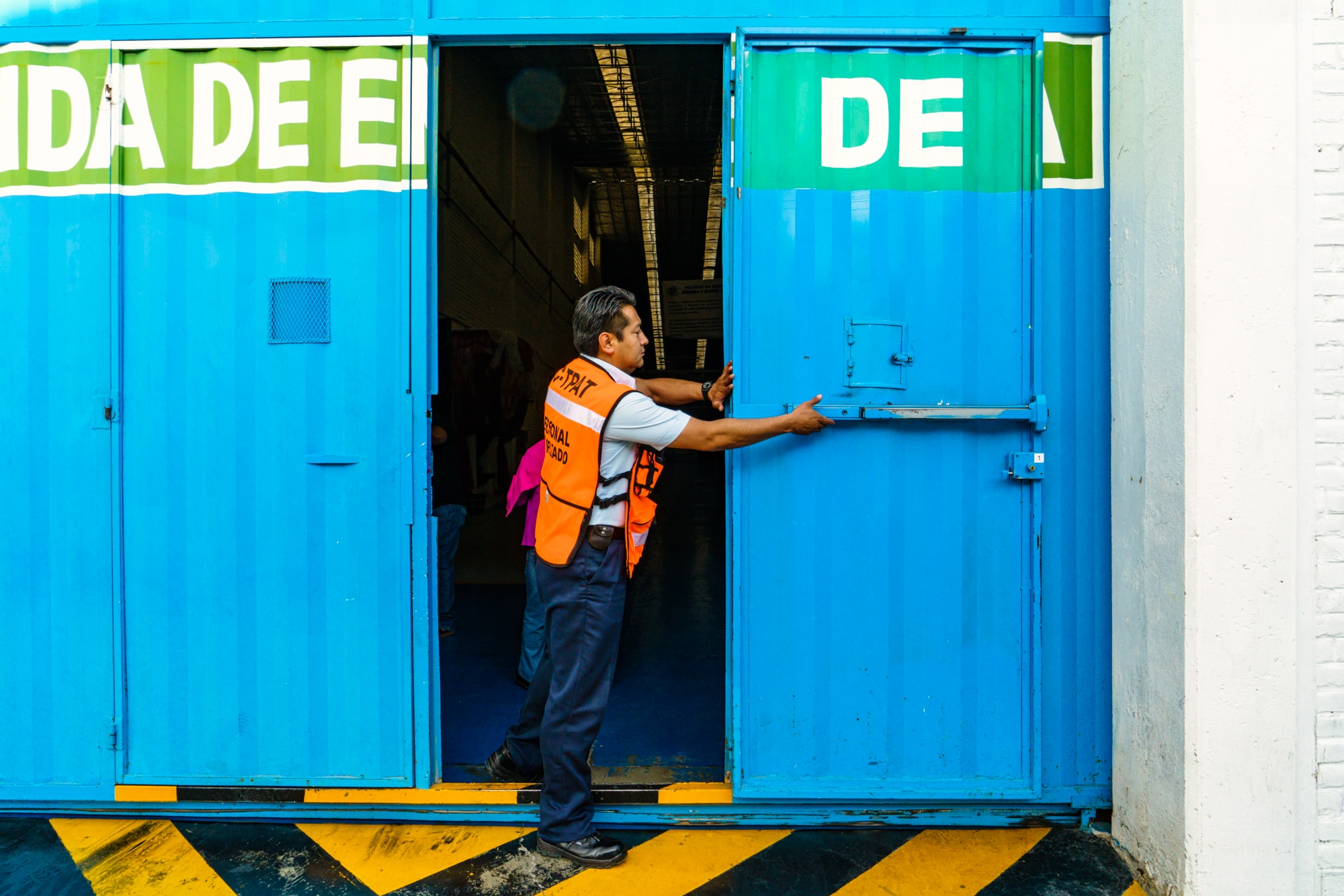 Entrance and Lunch for Tehuacan Garment Factory Workers