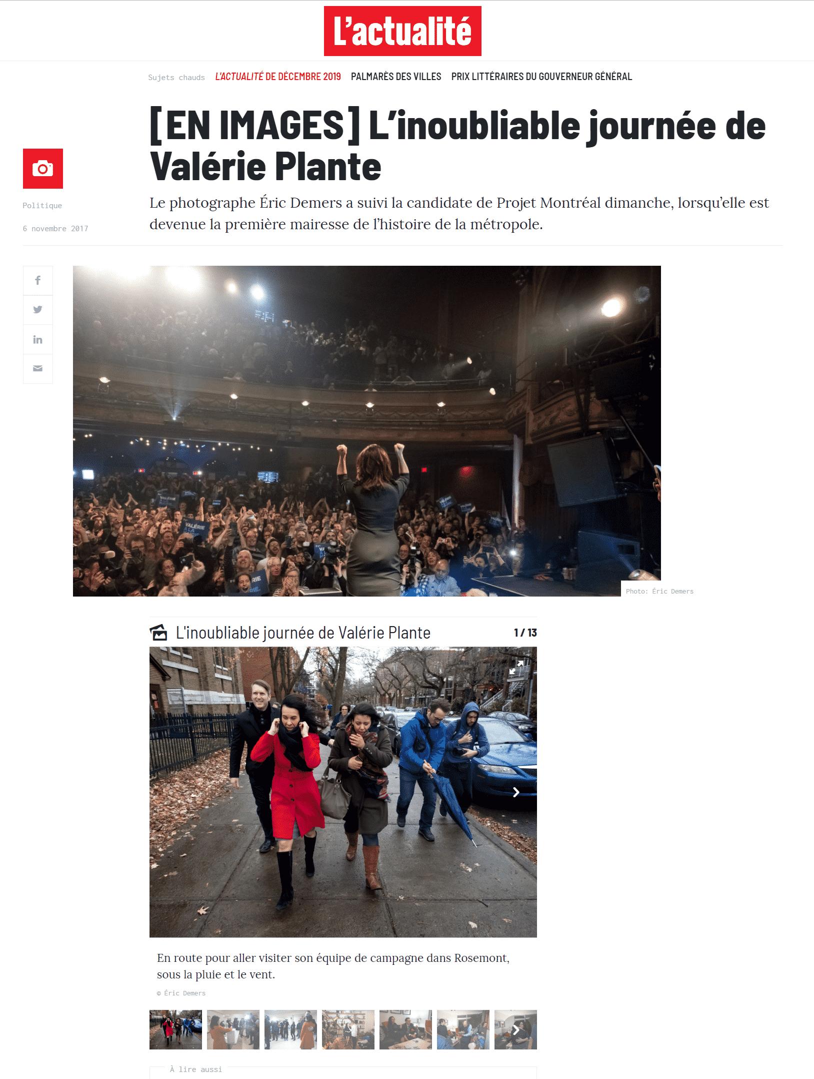 L'actualité 6 novembre 2017