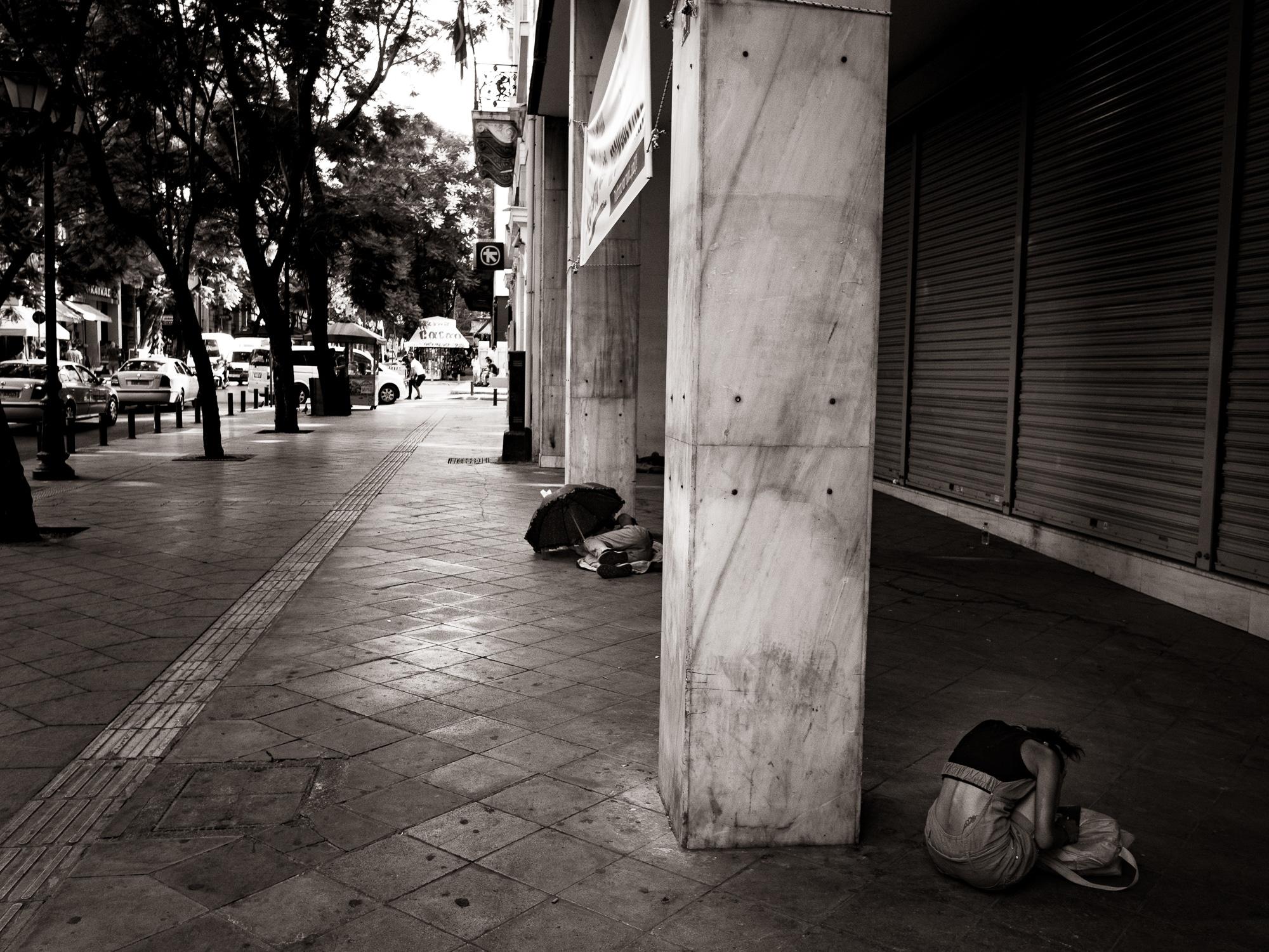 La vie dure à Athènes