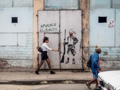 Sur la rue à La Havane