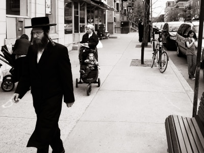 On the street in the Mile-end