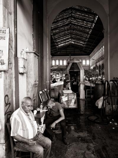 Sur la rue en Grèce