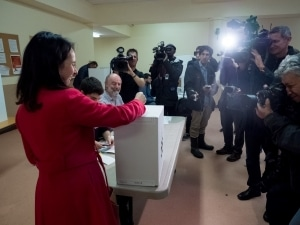 Valérie Plante va voter